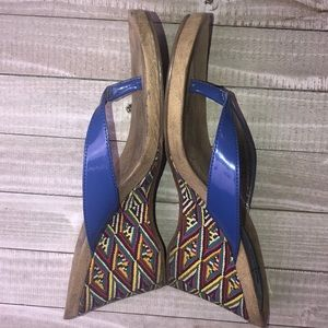 Style & Co Royal Blue, Colorful Fabric Wedges 8.5